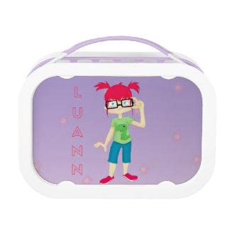 LuAnn Lunchbox - Floral Bkgrd