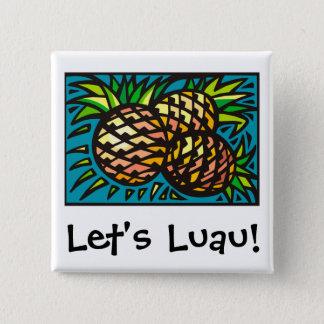 Luau 1 15 cm square badge