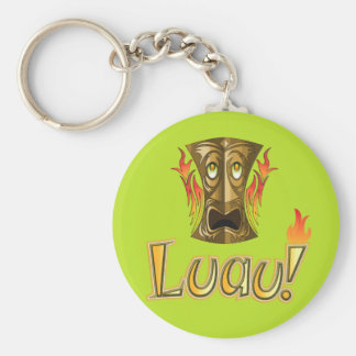 Luau 3 basic round button key ring
