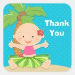 Luau Baby Shower Sticker