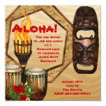 Luau Birthday Party Hawaiian Luau Party Personalised Invites