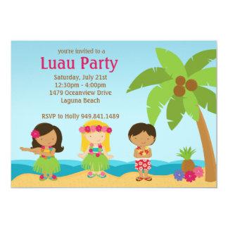 "Luau Birthday Party Invitation 5"" X 7"" Invitation Card"