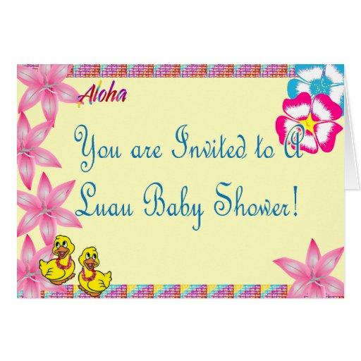 Luau Ducky Baby Shower Invitation Greeting Card | Zazzle.
