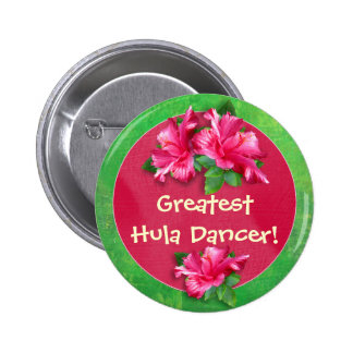 Luau Games Award Buttons with Pink Hibiscus