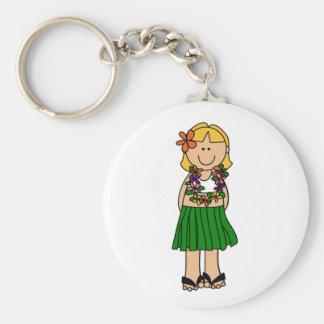 Luau Girl Keychain