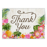Luau Hawaiian Rustic Beach Thank You Card