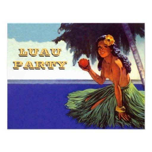 LUAU HULA DANCE PARTY INVITATION ~EZ TO CUSTOMIZE!