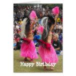 Luau Hula Dancers, Maui Hawaii, Birthday Greeting Card