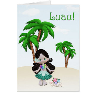 Luau Invitation Greeting Card