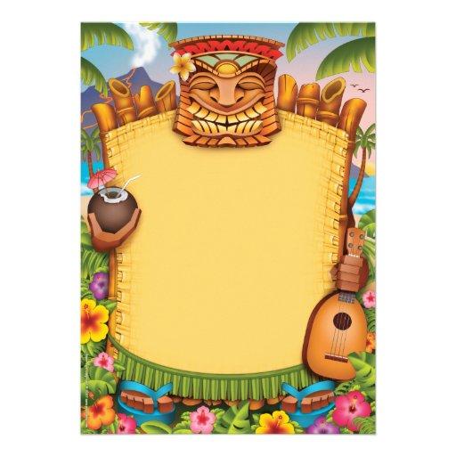 Luau Invitations, Hawaiian Party Invitations