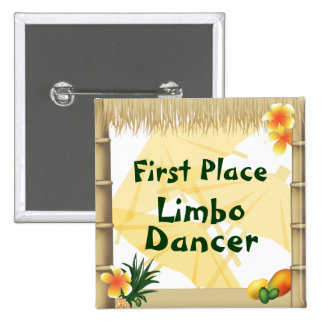 Luau Party First Place Limbo Dancer Award Button
