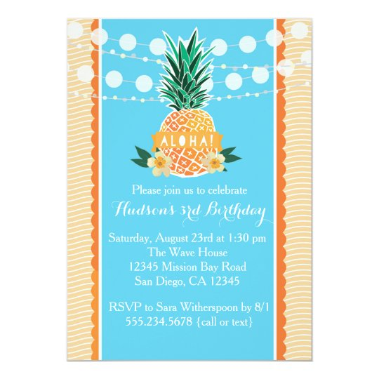 Luau Party Invitation for Birthday, Shower, etc