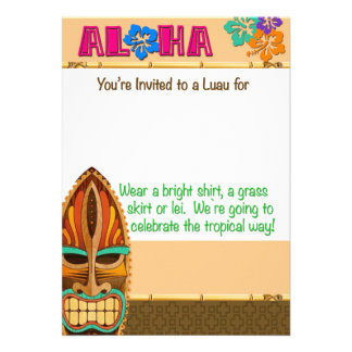Luau Party Personalized Announcements