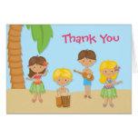 Luau Party Thank You Card