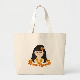 Luau Queen Jumbo Tote Bag
