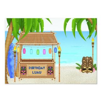 Luau Tropical Beach Birthday Invitation ~ Boys
