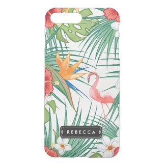 Luau Tropical Floral Pink Flamingo iPhone 8 Plus/7 Plus Case