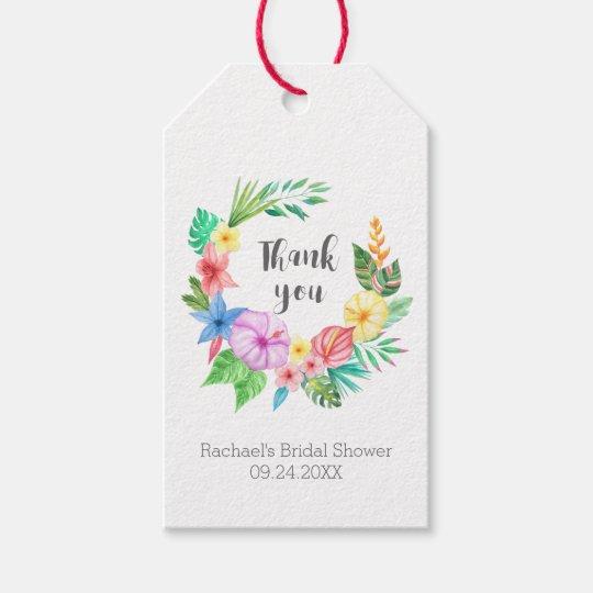 Luau Tropical Flower Bridal Shower Thank You Gift