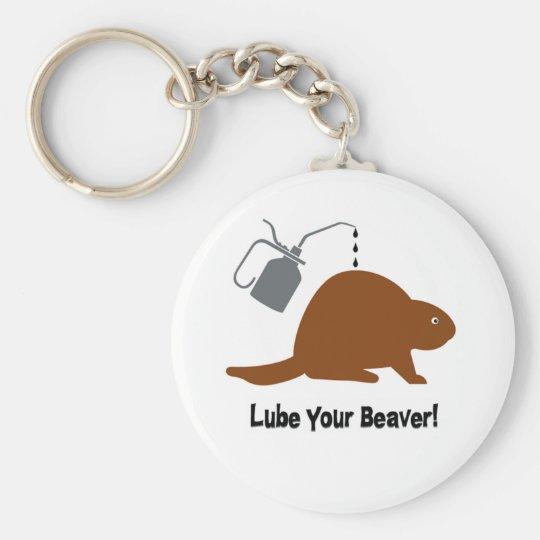 Lube Beaver Basic Round Button Key Ring