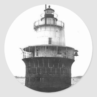 Lubec Channel Lighthouse Classic Round Sticker