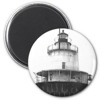 Lubec Channel Lighthouse 6 Cm Round Magnet