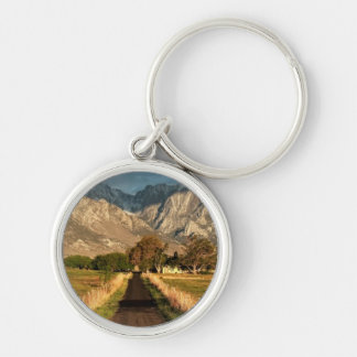 Lubken Canyon Road Silver-Colored Round Key Ring