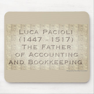 """""""Luca Pacioli - The Father of Accounting"""" Mouse Mat"""