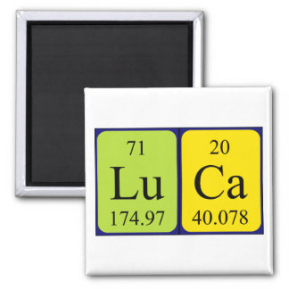 Luca periodic table name magnet