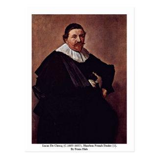 Lucas De Clercq (C.1603-1652). Postcard