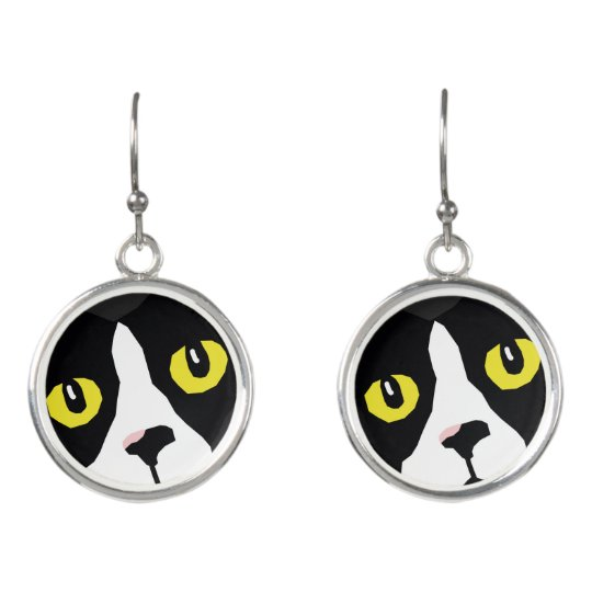 Lucas funky pop-art drop earrings