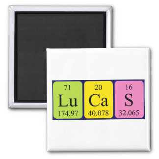 Lucas periodic table name magnet