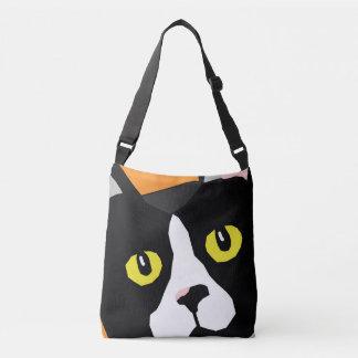 Lucas the cat abstract pop art design bag
