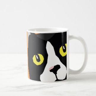 Lucas the cat abstract pop art mug