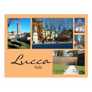 Lucca Collage Postcard