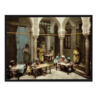 Luce Ben Aben, School of Arab Embroidery, Algiers, Post Card