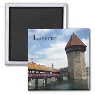 lucerne chapel bridge square magnet