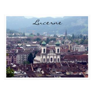 lucerne church view postcard
