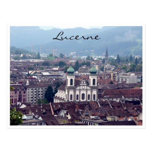 lucerne church view post cards