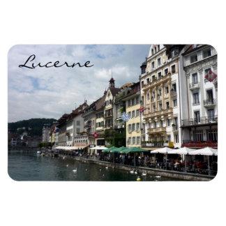 lucerne city rectangular photo magnet