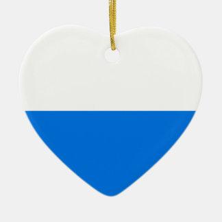 Lucerne Flag Heart Christmas Ornament