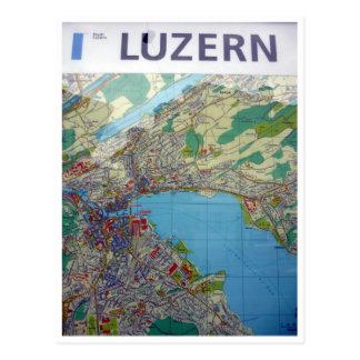 lucerne map postcard