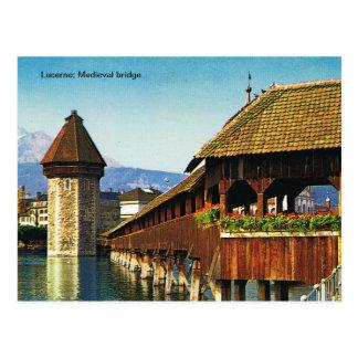 Lucerne; Medieval bridge Post Cards