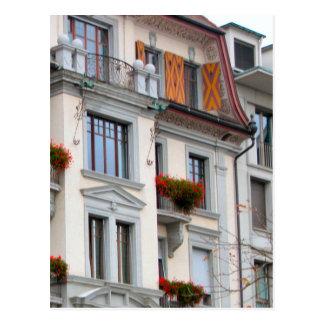 Lucerne old city - Lucerne houses Postcard