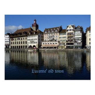 Lucerne' old town postcard