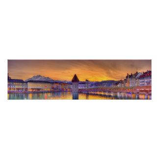 Lucerne Switzerland HDR Panoramic photography Poster