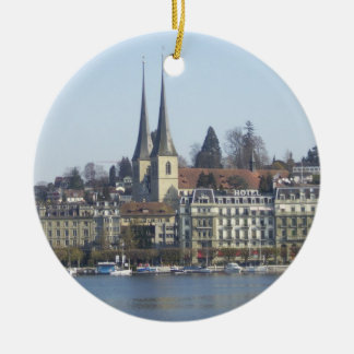 Lucerne Switzerland Round Ceramic Decoration