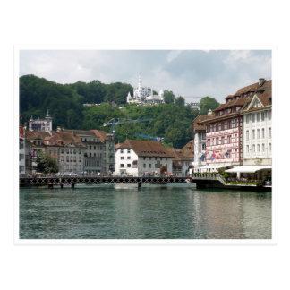 lucerne waters postcard