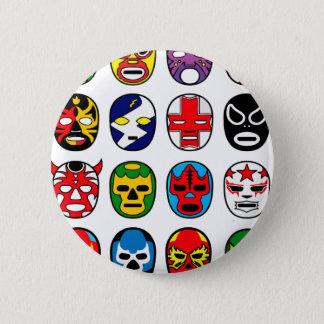 Lucha Libre Luchador Mexican Wrestling Masks 6 Cm Round Badge