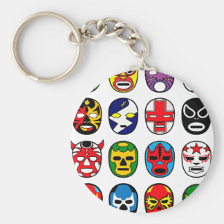 Lucha Libre Luchador Mexican Wrestling Masks Basic Round Button Key Ring