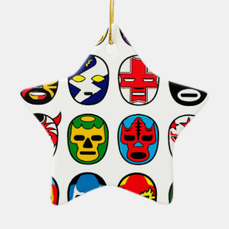 Lucha Libre Luchador Mexican Wrestling Masks Christmas Ornament